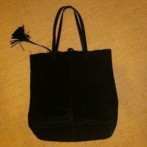Handbags - Handmade suede tote